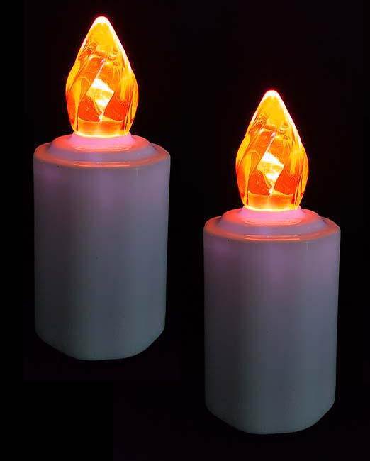 2 Waterdichte LED-Kaarsen, Orange Vlam