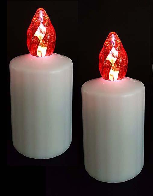 2 Waterdichte LED-Kaarsen