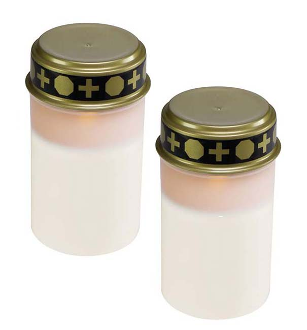 2 Witte LED-Noveenkaarsen
