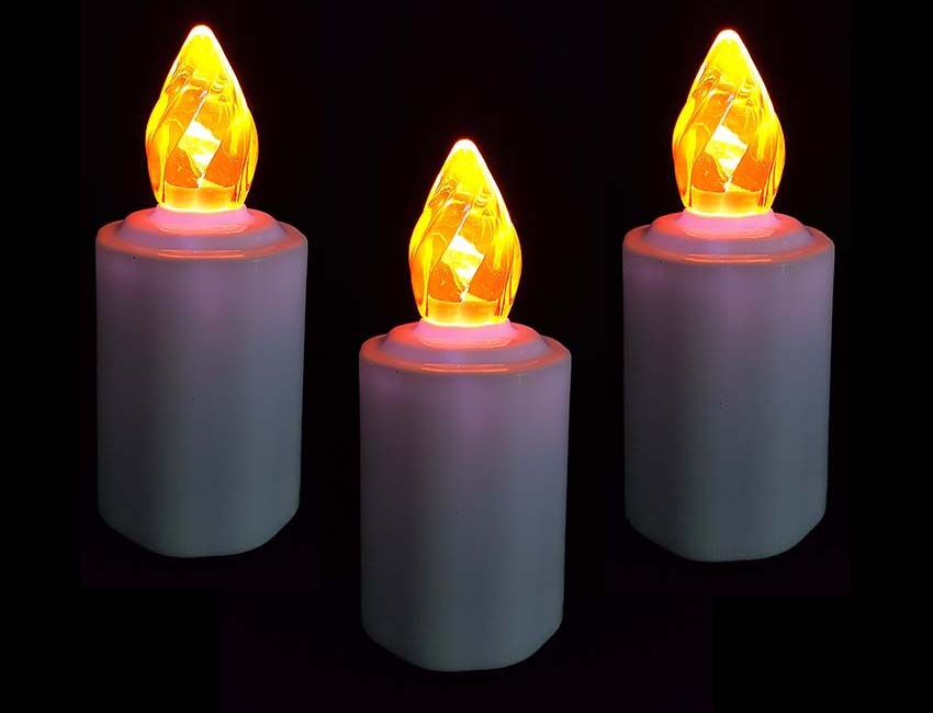 3 Waterdichte LED-Kaarsen