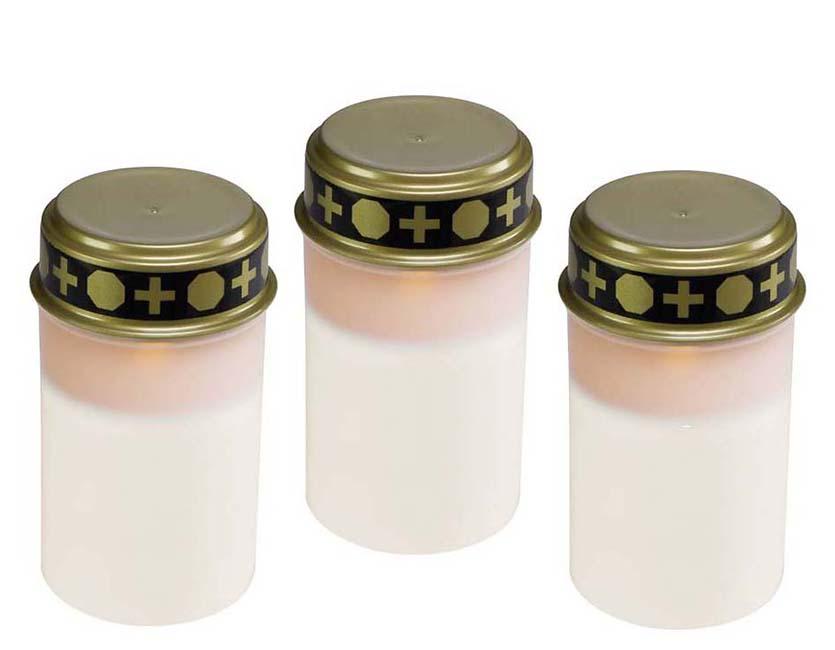 3 Witte LED-Noveenkaarsen