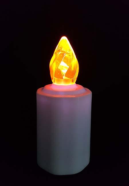 2 Waterdichte LED-Kaarsen, Gele Vlam