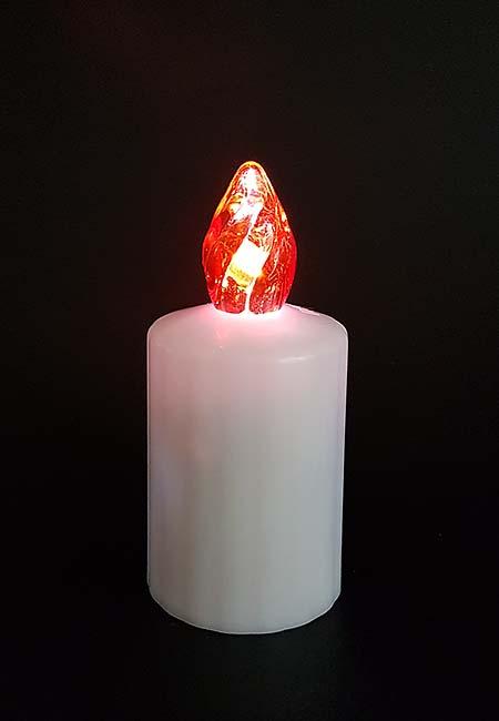 3 Waterdichte LED-Kaarsen, Rode Vlam