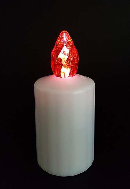 Waterdichte LED-Kaars, Rode Vlam