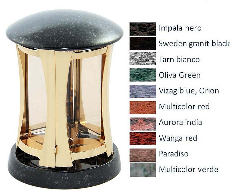Granieten Graflantaarn, Gouden Messing Body