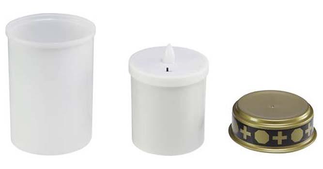 Witte LED-Noveenkaars met Timer